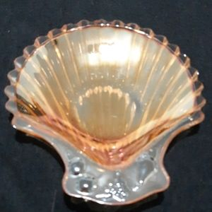 Vintage Seashell Glass Jewelry/Trinket Tray